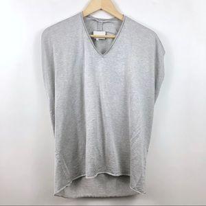 3.1 Phillip Lim Gray V Neck Knit Top Size Large
